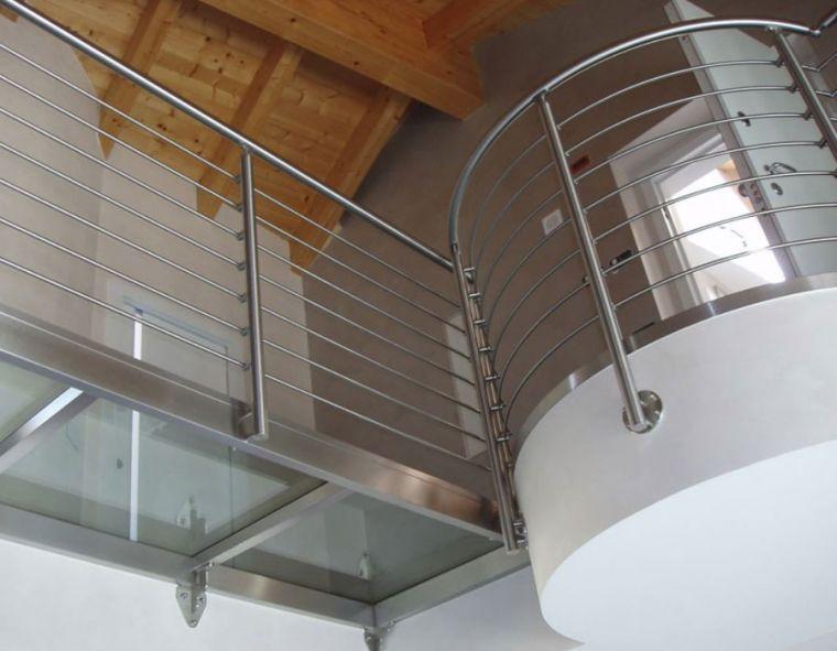 Κάγκελα τύπου inox για βεράντες και μπαλκόνια.