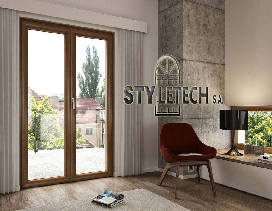 Synthetic pvc REHAU with depth 70 mm