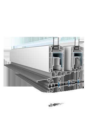 pvc frames lift & slide Hebe-Schiebe-Türen doors  rehau euro design synego geneo