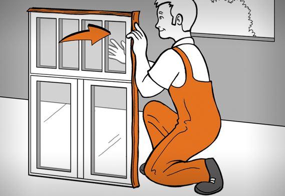 Ανοίξτε τη συσκευασία τών κουφωμάτων pvc