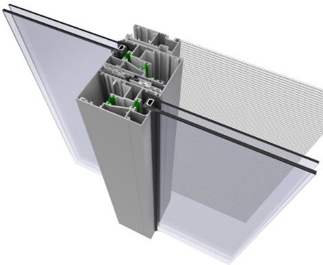 Κουφώματα αλουμινίου συρόμενο θερμομονωτικό ηχομονωτικό σύστημα europa 10000