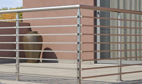 Inox rails for terraces and balconies