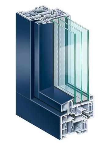 Pvc frames KΟMMMERLING 76MD AluClip Pro