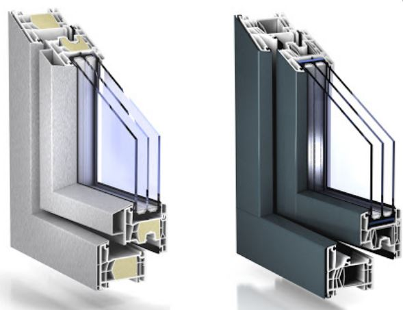 Pvc frames KÖMMERLING 76 AluClip