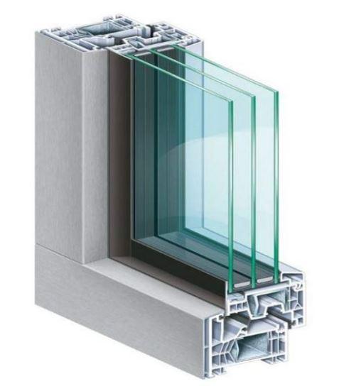 Pvc frames KÖMMERLING 76 MD AluClip zero