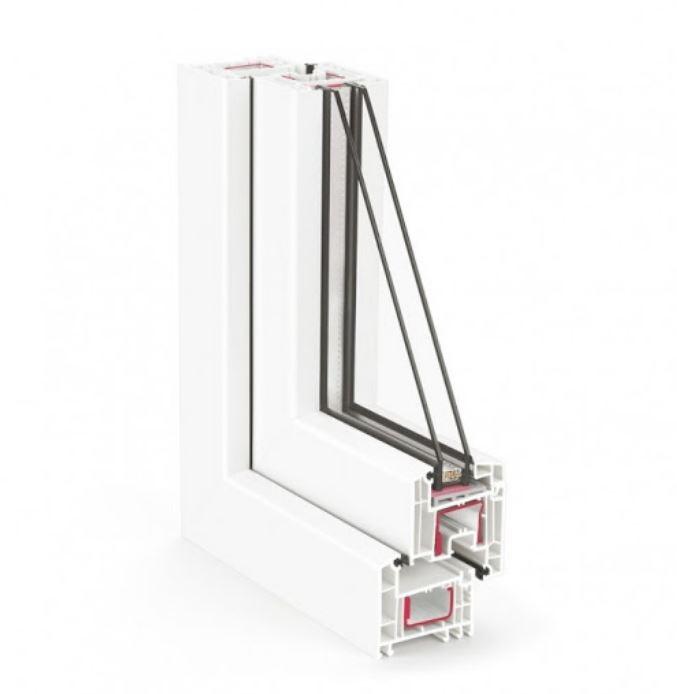 κουφώματα συνθετικά  ανοιγόμενα ανακλίνομενα  pvc rehau 70 euro design  brillant