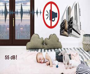 Παράθυρα με μέγιστη ηχομόνωση και ήχο προστασία  52 dB