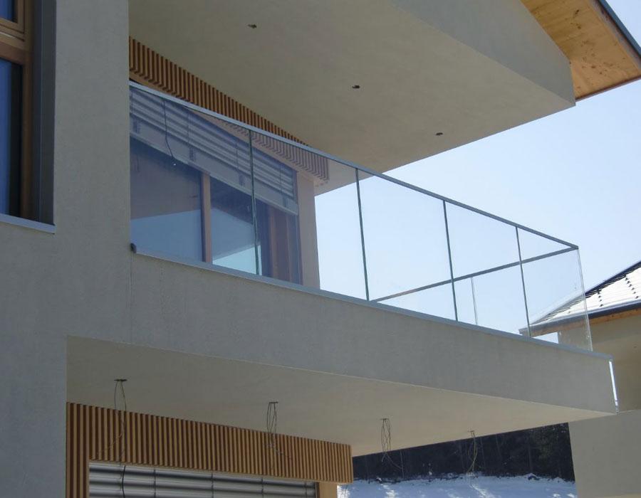 Verandas with glass windows