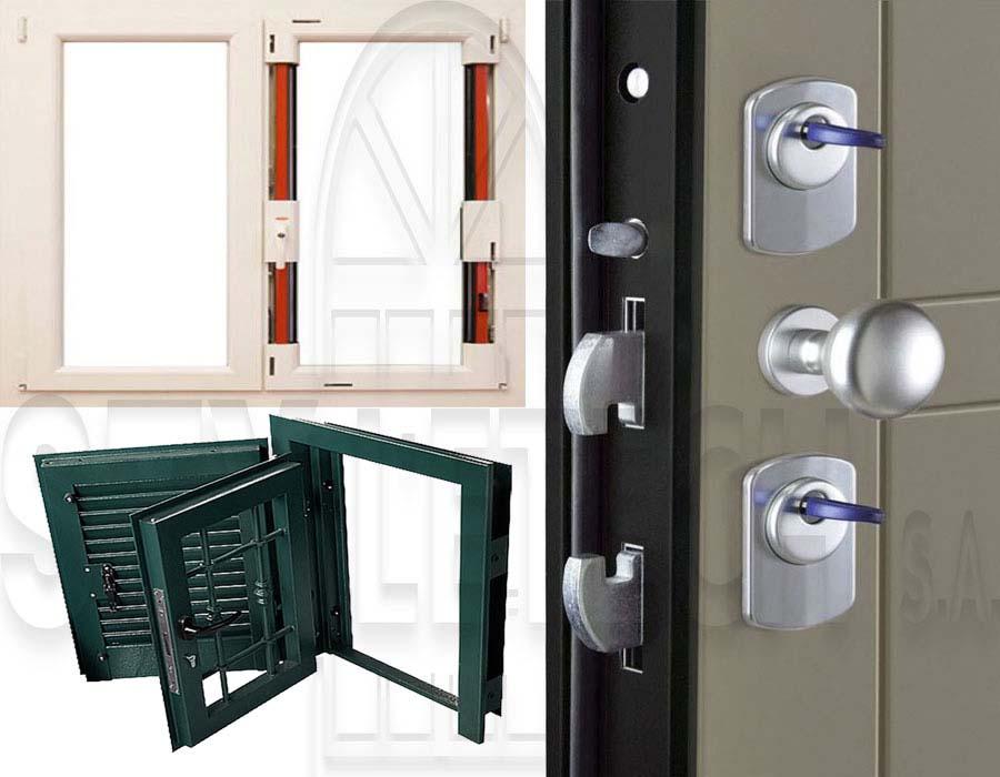 Αντι-βανδάλ σειρά σε  παραθυρόφυλλα και σε πόρτες