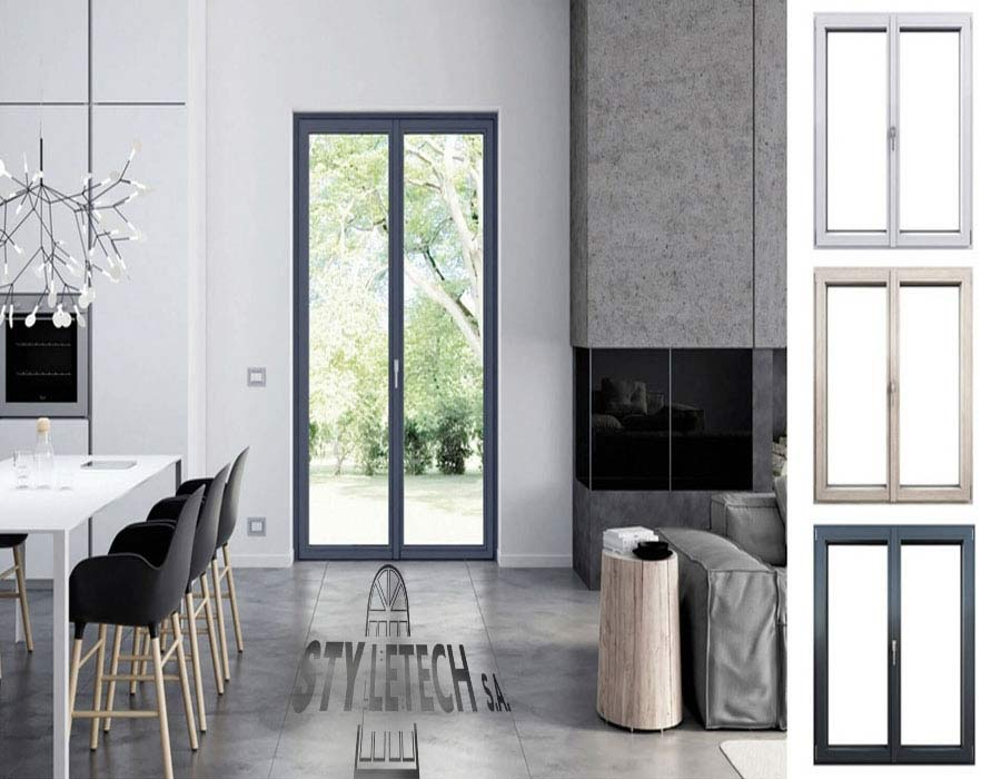 REHAU SYNEGO pvc composite pvc from STYLETECH with a depth of 80 mm