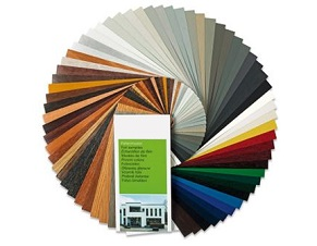 Paints in wood colors and other colors for aluminum frames